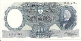 ARGENTINE 500 PESOS ND1964-69  UNC P 278 - Argentine