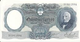 ARGENTINE 500 PESOS ND1964-69 AUNC P 278 - Argentine
