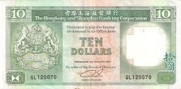 HONG KONG   10 Dollars   1/1/1991   P. 191c - Hong Kong