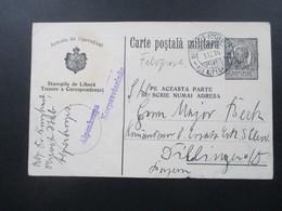Rumänien 1916 Feldpostkarte / Ganzsache Stempel Alpenkorps Korpsveterinär. Bayr. Feld-Postexp. Des Alpenkorps RRR - World War 1 Letters