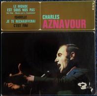 """Charles Aznavour -  . Disque 45 T.- """" Le Monde Est Sous Nos Pas """" ... - Disco & Pop"""