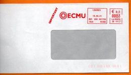 95 LOUVRES  ECMU     2001  Lettre Entière 110x220 N° MM 258 - Marcophilie (Lettres)