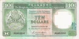 HONG KONG   10 Dollars   1/1/1987   P. 191a - Hong Kong