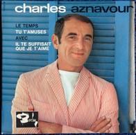 """Charles Aznavour -  . Disque 45 T.- """" Le Temps """" ... - Disco & Pop"""