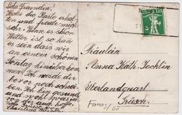 """1913, Aushilfs-Stp. """" Fanas """" , #a970 - Poststempel"""