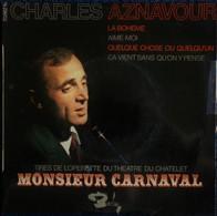 "Charles Aznavour -  . Disque 45 T.- ""Monsieur Carnaval "" ... - Disco & Pop"