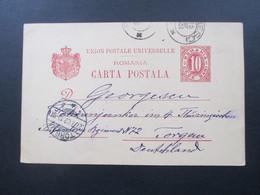 Rumänien 1902 Ganzsache / Feldpostkarte Nach Torgau An Eine Junker Im 4. Thüringischen Infanterie Regiment No 72 - Covers & Documents