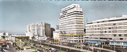 MAROC-RARE-carte Panoramique-CASABLANCA--vue Panoramique Sur La Place MOHAMMED V Et Le Boulevard EL HANALI-voir 2 Scans - Casablanca