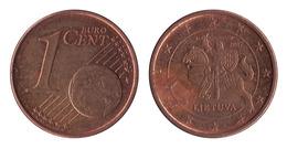 Lithuania / 2015 / 1 Euro Cent / VF - Lituania