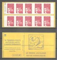 CARNET LUQUET 1998. Y&T N° 3085a-C3** Neuf De Distributeur. >10 TVP Rouge LA POSTE.Type II. Daté 10.7.98.TB. - Carnets