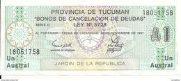 ARGENTINE 1 AUSTRAL 1991 UNC - Argentine