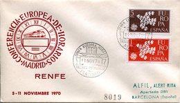 EUROPA CEPT ESPAGNE 1961/1970  FDC YVERT N° 1044/45 -  RENFE - Europa-CEPT