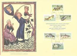 DDR 1987  Michel #   3095 - 3100 Klappkarte   Angler Und Fischzucht - Used Stamps