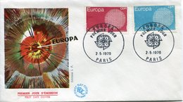 EUROPA CEPT 1970 FDC FRANCE YVERT Nº 1638/1639 - Europa-CEPT
