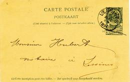 316/27 - Entier Postal Armoiries LESSINES 1894 En Locale - Origine Manuscrite GHOY - Entiers Postaux