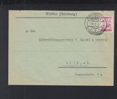 Österreich Brief 1927 Sonderstempel Werfen - 1918-1945 1. Republik