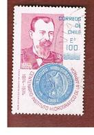 CILE (CHILE)  - SG 741    -  1975 CENTENARY  NAVAL HYDROGRAPHIC INSTITUTE               -     USED ° - Cile