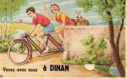 DINAN Carte Humoristique (avec Dépliant Photos) - Dinan
