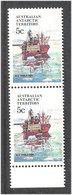 Autstralian Antarctic Territory AAT 1979  Research Ship M V Thala Dan, Mi 39 In Pair. MNH(**) - Australian Antarctic Territory (AAT)