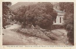 30)  VALLERAUGUE - Jonction Du Clarou Et De L' Hérault - Le Temple Et Promenade Des Maronniers - Valleraugue