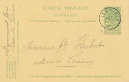 318/27 - Entier Postal Armoiries LESSINES 1907 En Locale - Origine Manuscrite BOIS-DE-LESSINES - Entiers Postaux
