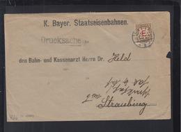 Bayern Staatseisenbahnen Drucksache Aufdruck - Bayern