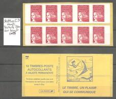 CARNET LUQUET 1998. Y&T N° 3085a-C3** Neuf De Distributeur. >10 TVP Rouge LA POSTE.Type II. +Variété. TB. - Carnets