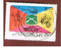 CILE (CHILE)  - SG 785    -  1977  POLICE EMBLEM           -     USED ° - Cile