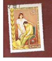 CILE (CHILE)  - SG 794    -  1977    WELFARE: CARE OF THE DISABLED         -     USED ° - Cile