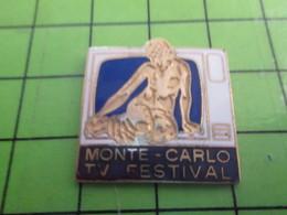1018A Pin's Pins / Rare Et De Belle Qualité / THEME MEDIAS : MONACO MONTE-CARLO TV FESTIVAL TELEVISION - Medias