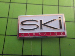 1018A Pin's Pins / Rare Et De Belle Qualité / THEME MEDIAS : REVUE PRESSE ECRITE SKI MAGAZINE - Medias
