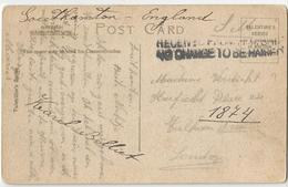 8Eb-467:S.M. Postcard: RECEIVED FROM H.M.S.. NO CHANGE TO BE HA... > London /High Street, Southampton...N - Marcofilia