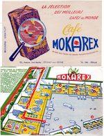 2 Buvards Mokarex. Sélection Des Meilleurs Cafés Du Monde. - Café & Thé