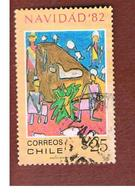 CILE (CHILE)  - SG 930  -    1982  CHRISTMAS: ADORATION OF THE SHEPERDS  -     USED ° - Cile