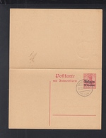 Besetzung Belgien GSK Mit Antwort Stempel 1915 - Besetzungen 1914-18