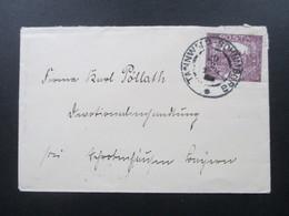 CSSR 1919 Nr. 28 EF Stempel Tannwald - Schumburg Und Rückseitig Stempel Konvent Der Hedwigschwestern - Czechoslovakia