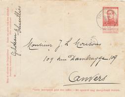 320/27 - Enveloppe Pellens Simple Cercle T2R THUILLIES 1914 Vers Anvers - Expéditeur Giloteau - Omslagen
