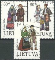 LITAUEN 1993 Mi-Nr. 537/39 O Used - Aus Abo - Lithuania