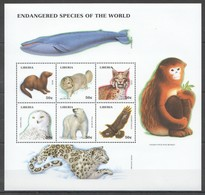 B848 LIBERIA FAUNA ANIMALS ENDANGERED SPECIES OF THE WORLD 1KB MNH - Timbres
