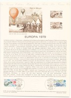 """France Document De La Poste """" Europa 1979 """" Du 28 Avril 1979 à Paris - Documents De La Poste"""