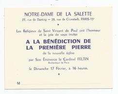 Paris 15 - Notre Dame De La Salette 27 Rue De Dantzig 38 Rue De Cronstadt Bénédiction De La 1ere Pierre Nouvelle église - Arrondissement: 15