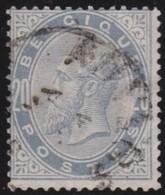 Belgie       .       OBP    .      39      .         O         .    Gebruikt   .     /      .       Oblitéré - 1883 Leopold II