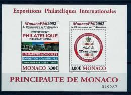 """Monaco Bloc YT 88 """" Monaco Phil2002 """" 2002 Neuf** - Blocs"""