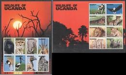 B854 UGANDA FAUNA ANIMALS WILDLIFE OF UGANDA 2KB MNH - Briefmarken