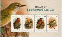Christmas Island 2018 MS MNH Art Of John Gerrard Keulemans Bird Of Prey Brown Goshawk Owl Boobook - Arends & Roofvogels