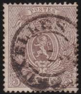Belgie       .       OBP    .     25 A          .         O         .    Gebruikt   .     /      .       Oblitéré - 1866-1867 Coat Of Arms