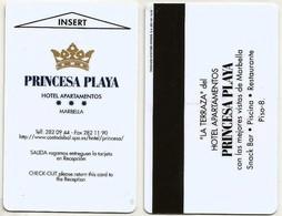 Spanien / Spain Hotelkarte / Keycard  Vom Hotel Princesa Playa In Marbella / Spanien - Hotelkarten