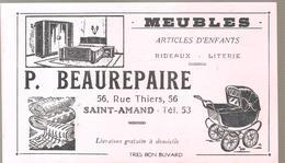 Buvard P. BEAUREPAIRE 56,Rue Thiers Saint Amand Meubles Articles D'enfants Rideaux Literie - Textile & Clothing