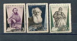 RUSSIA YR 1935,SC 577A-79A,MI 536B-38B,MLH *,PERF.11,LEO TOLSTOY - 1923-1991 USSR