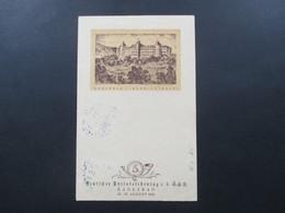 Sonder PK Deutscher Philatelistentag I.d. CSR Karlsbad 1914 Mit Sonderstempel Orig. Steinzeichnung Ernst Riedel - Czechoslovakia